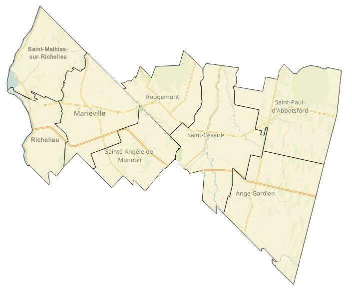 Image de la carte MRC de Rouville